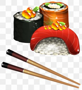 Sushi Set Clipart Image - Sushi Japanese Cuisine Tamagoyaki Onigiri Clip Art PNG