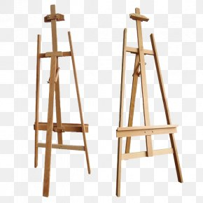 Painter - Easel Art Exhibition Table Furniture PNG