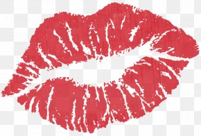 Red Kiss Clipart - Kiss Pink Lip Clip Art PNG