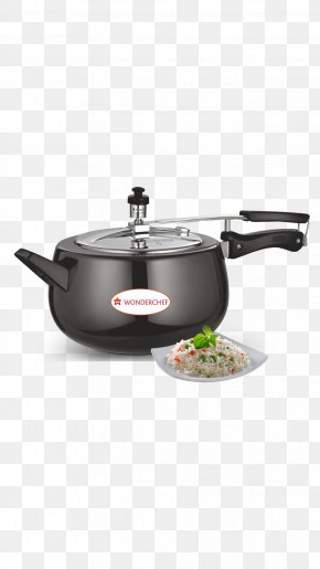 Frying Pan - Wonderchef Pressure Cooking Stainless Steel Anodizing Lid PNG