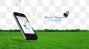 Green Grass Phone - Smartphone Advertising Mobile Phone Download Illustration PNG
