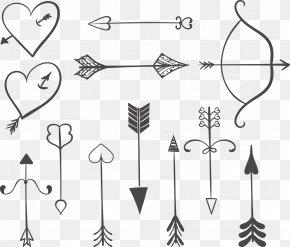 Vector Painted Stone Mandrel Archery - Arrow Euclidean Vector Download Arah Gratis PNG