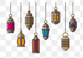 Islamic Chandelier - Paper Lantern PNG