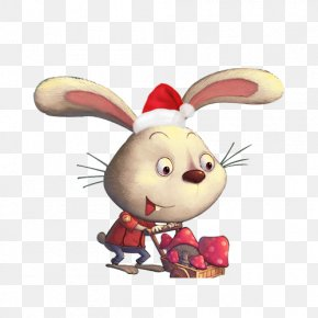 Christmas Rabbit - Santa Claus Christmas PNG