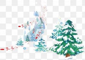 Snow Pine - Snow Clip Art PNG