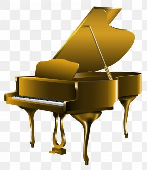 Transparent Gold Piano Clipart - New York City Piano Pianist Guangzhou Emory Sen Electronics Co., Ltd. Gold PNG