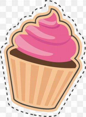 Cake Sticker - Cupcake Sticker Birthday Cake PNG