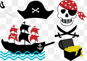 Vector Pirate Ship - Piracy Free Content Clip Art PNG