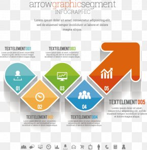 Vector Creative Arrow - Infographic Information Illustration PNG