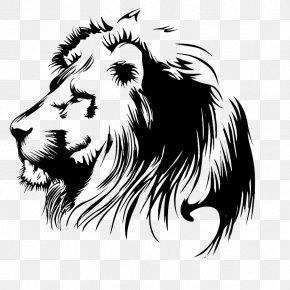 Lion - Lion Wall Decal Bumper Sticker PNG