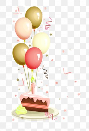 Balloon Decoration Ribbons - Birthday Cake Wish Party PNG