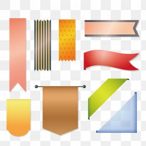 Vector Ribbon - Royalty-free Euclidean Vector Illustration PNG