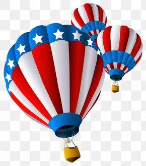 USA Air Balloon Clipart - Hot Air Balloon Flight Aviation Clip Art PNG