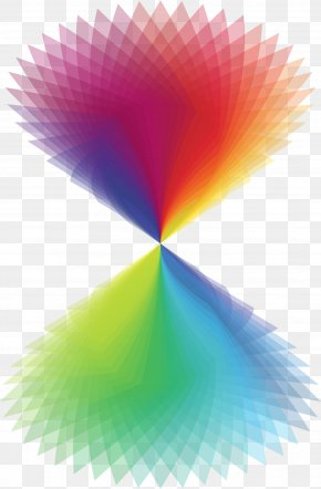 Rainbow - Hourglass Rainbow PNG