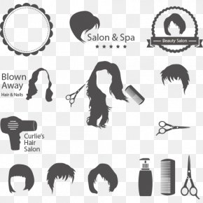Hair Vector - Beauty Parlour Hairdresser Hairstyle Clip Art PNG