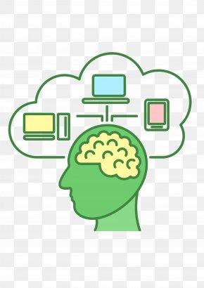 Brain Cloud Data Lines - Computer Graphics Clip Art PNG