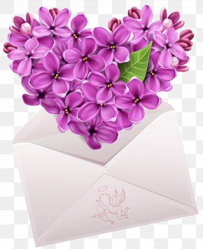 Valentine Letter With Flower Heart Clipart - Heart Emoticon Smiley Emoji Clip Art PNG