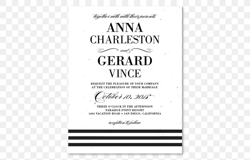 Wedding Invitation Paper White Tie Black Tie Png 525x525px