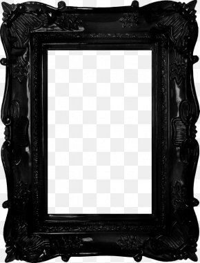 Black Frame - Picture Frame Mirror Antique PNG