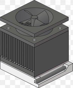 Black Radiator - Heat Sink Central Processing Unit Fan Computer Cooling Clip Art PNG