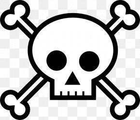 Easy Skull Cliparts - Skull And Bones Skull And Crossbones Clip Art PNG