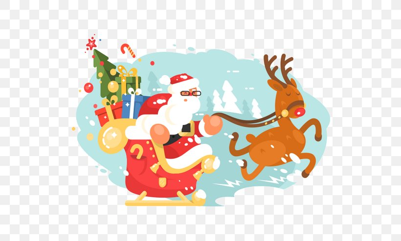 Santa Clauss Reindeer Santa Clauss Reindeer Christmas Sled, PNG, 658x494px, Santa Claus, Area, Art, Cartoon, Christmas Download Free