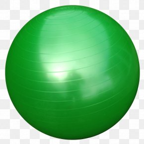 Gym Ball Download - Sphere Exercise Ball Green Pump PNG