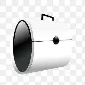 White Briefcase Model - Cylinder Computer Hardware PNG