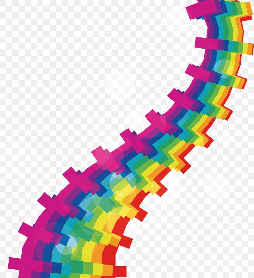 Line Rainbow Euclidean Vector Curve, PNG, 2905x3187px, Rainbow, Color, Curve, Geometric Shape, Magenta Download Free