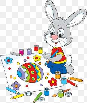Bunny Drawing - Easter Bunny Clip Art Drawing Illustration Image PNG