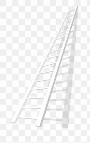 White Stairs - Line Angle Point Black And White PNG