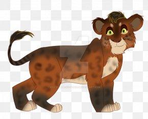 Lion Cub - Lion Hyena Cat Animal Line Art PNG