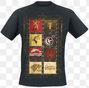 T-shirt - T-shirt Cersei Lannister Daenerys Targaryen House Stark Winter Is Coming PNG