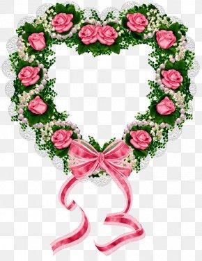 Valentine's Day - Valentine's Day Wedding Invitation Flower Wreath Garland PNG