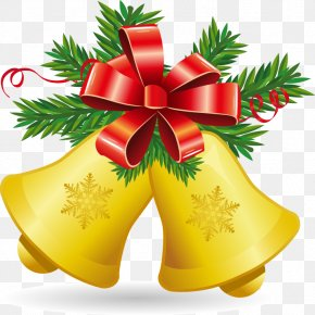 Yellow Bell Christmas Decoration Pattern - Christmas Jingle Bell Clip Art PNG