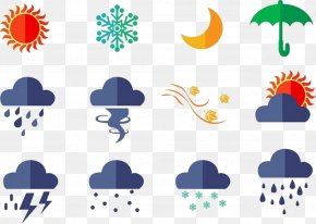 All Kinds Of Weather Icon Vector - Euclidean Vector Rain Weather Icon PNG