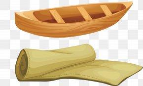 Vector Small Wooden Boat - Canoe Boat Wood Fototapeta PNG