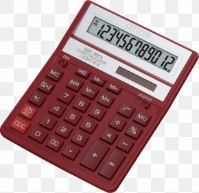 Red Calculator Image - Solar-powered Calculator Calculation PNG