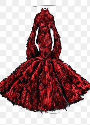 Red Dress Design Picture Material - Skirt Designer Sweater Dress PNG