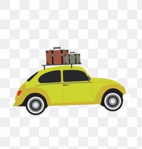 Vector Travel - Car Volkswagen Beetle Vacation Automotive Design PNG