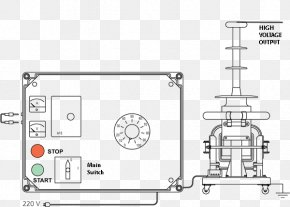 High Voltage Transformer - Technical Drawing Paper Machine Technology PNG