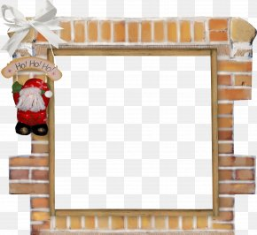 Christmas Elements - Christmas Santa Claus Picture Frame Clip Art PNG