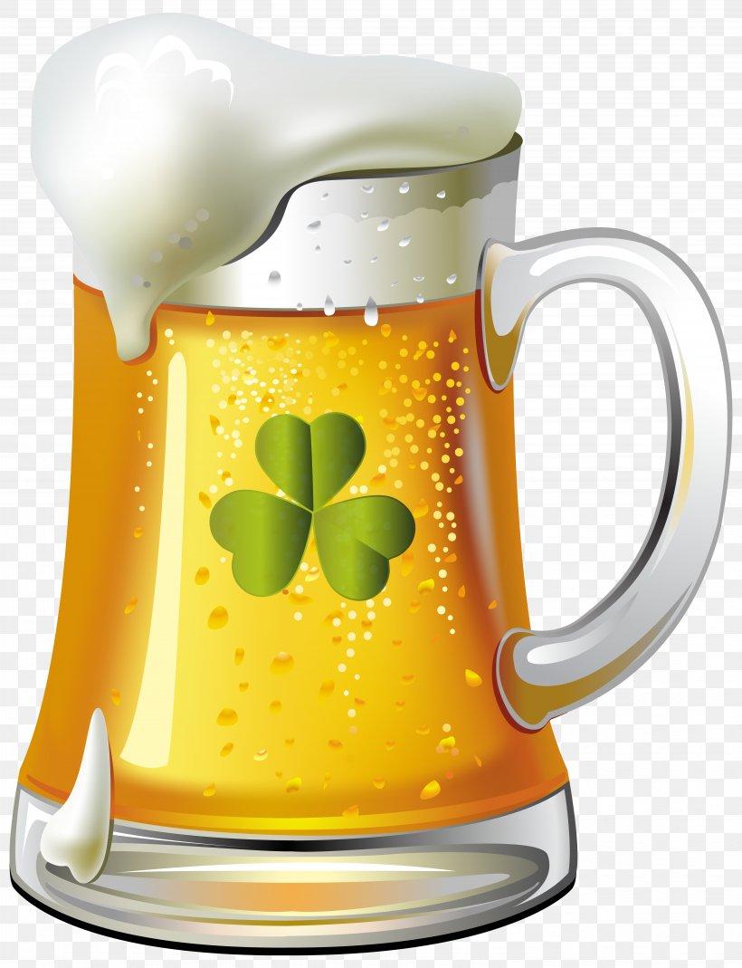 Beer Glassware Saint Patrick's Day Clip Art, PNG, 5973x7790px, Beer, Alcoholic Drink, Beer Bottle, Beer Glasses, Beer Stein Download Free
