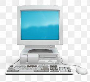 Old Computer Display - Computer Keyboard Computer Monitor Desktop Computer PNG
