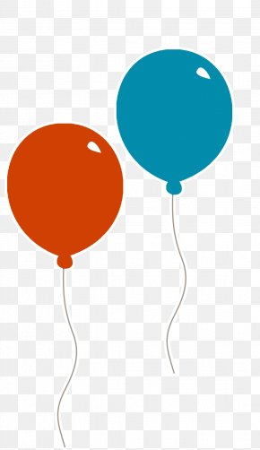 Red Balloons And Blue Balloons - Balloon Red Blue Clip Art PNG