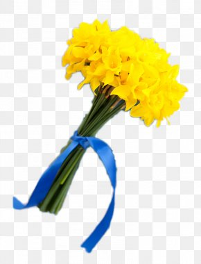 Bright Yellow Bouquet - Floral Design Yellow Flower Bouquet PNG