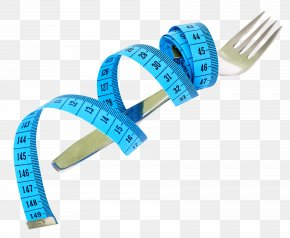 Fork And Measuring Tape - Measurement Tape Measure Nutrition PNG