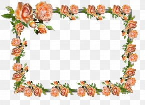 Flower - Floral Design Picture Frames Clip Art Borders And Frames Image PNG