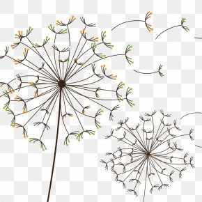 Color Hand Painted Dandelion - Dandelion RGB Color Model PNG