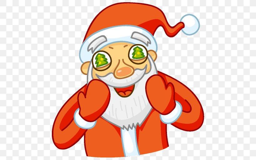 Ded Moroz Santa Claus Christmas Ornament Sticker VKontakte, PNG, 512x512px, Ded Moroz, Art, Bbcode, Cartoon, Christmas Download Free